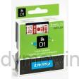 Dymo 40915 D1 Tape 9mm x 7m rood op wit