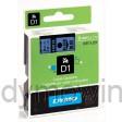 Dymo 40916 D1 Tape 9mm x 7m zwart op blauw