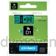 Dymo 45019 D1 Tape 12mm x 7m zwart op groen