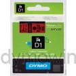 Dymo 45807 D1 Tape 19mm x 7m zwart op rood