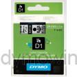 Dymo 53710 D1 Tape 24mm x 7m zwart op transparant