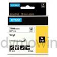 Dymo RHINO 18445 Gekleurd Vinyl zwart op wit 19mm