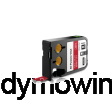 DYMO 1868761 XTL universele vinyl tape 12mm wit op rood