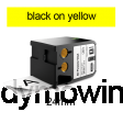 DYMO 1868773 XTL universele vinyl tape 24mm zwart op geel