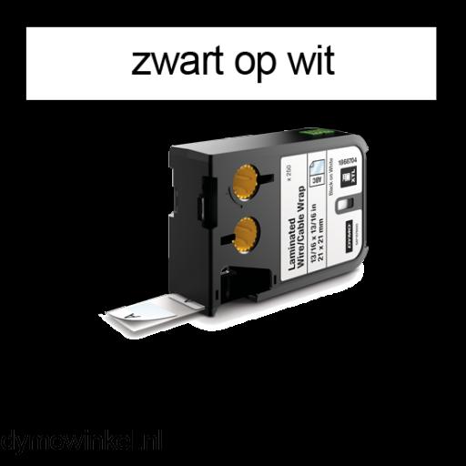 DYMO 1868705 XTL kabelwikkel 21x39mm zwart op wit
