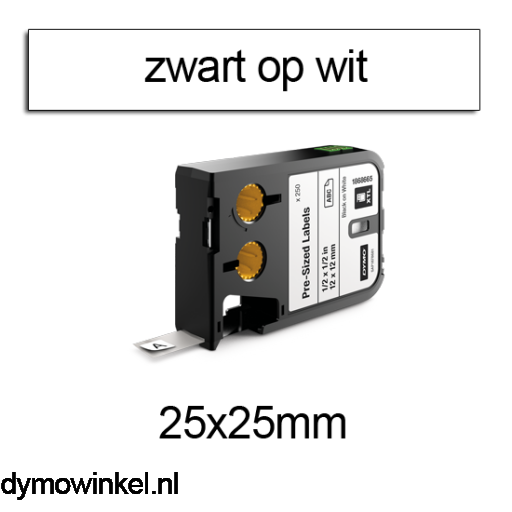 DYMO 1868668 XTL Label 25x25mm zwart op wit