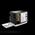 DYMO 1868749 XTL vinyl lettertape 41mm rood op transparant