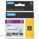 Dymo RHINO 1805428 vinyl wit op paars 24mm