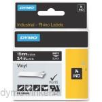 Dymo RHINO 1805436 vinyl wit op zwart 19mm