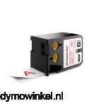 DYMO 1868759 XTL universele vinyl tape 41mm rood op wit