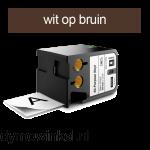DYMO 1868786 XTL universele vinyl tape 12mm wit op bruin