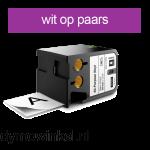 DYMO 1868793 XTL universele vinyl tape 24mm wit op paars