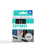 Dymo 45021 D1 Tape 12mm x 7m wit op zwart