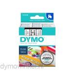Dymo 43613 D1 Tape 6mm x 7m zwart op wit