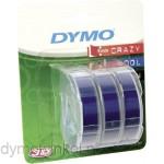 Dymo 3D reliëftape voor lettertangen, 3 stuks blauwe tape