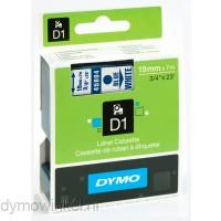 Dymo 45804 D1 Tape 19mm x 7m blauw op wit